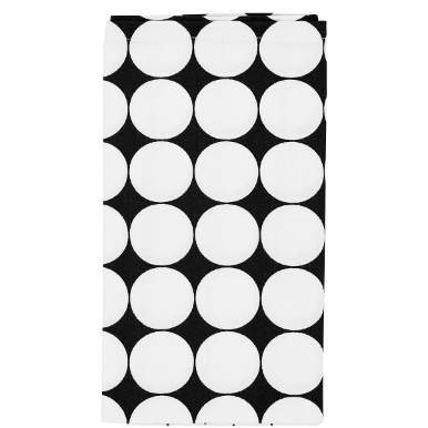 BLACK & WHITE Serviette Punkte
