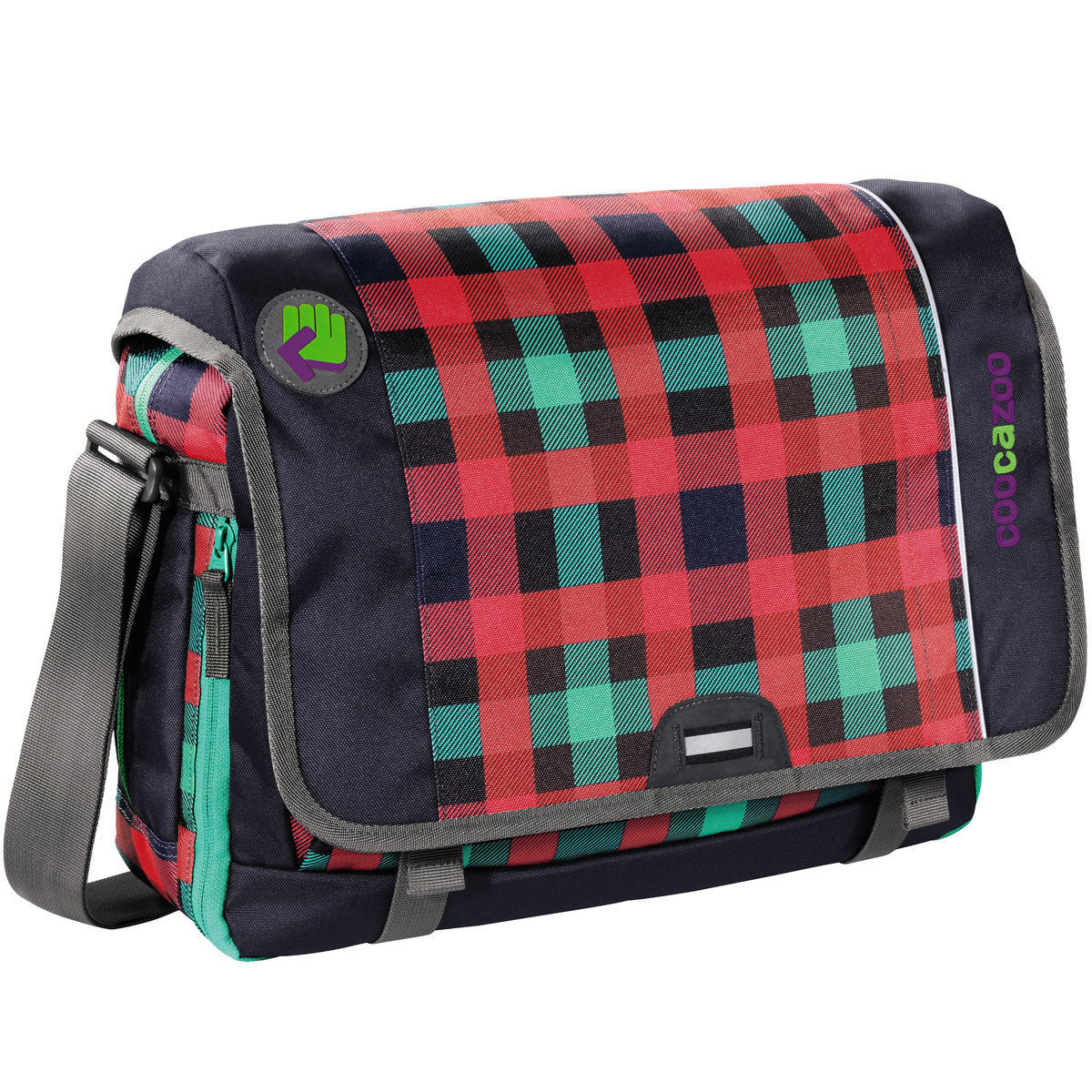 coocazoo City Stuff HangDang Umhängetasche 44 cm Laptopfach, Checky Mint