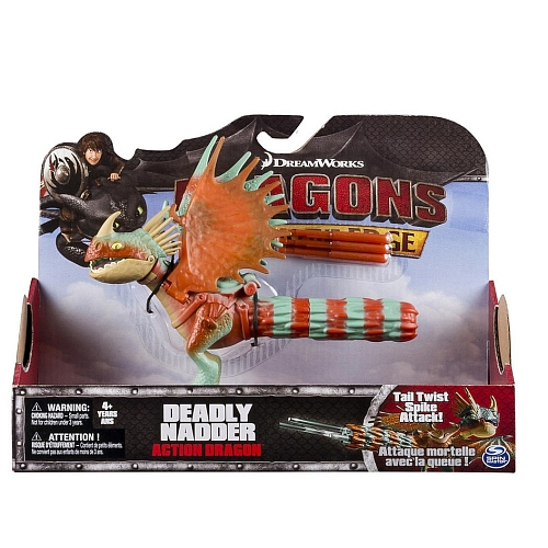 Dragons - Actionfigur: Drache, Deadly Nadder (Tail Twist Spike Attack), ca. 15 cm