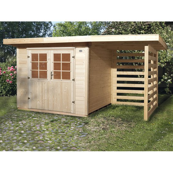 obi holz gartenhaus la spezia 385 cm x 209 cm g nstig in. Black Bedroom Furniture Sets. Home Design Ideas
