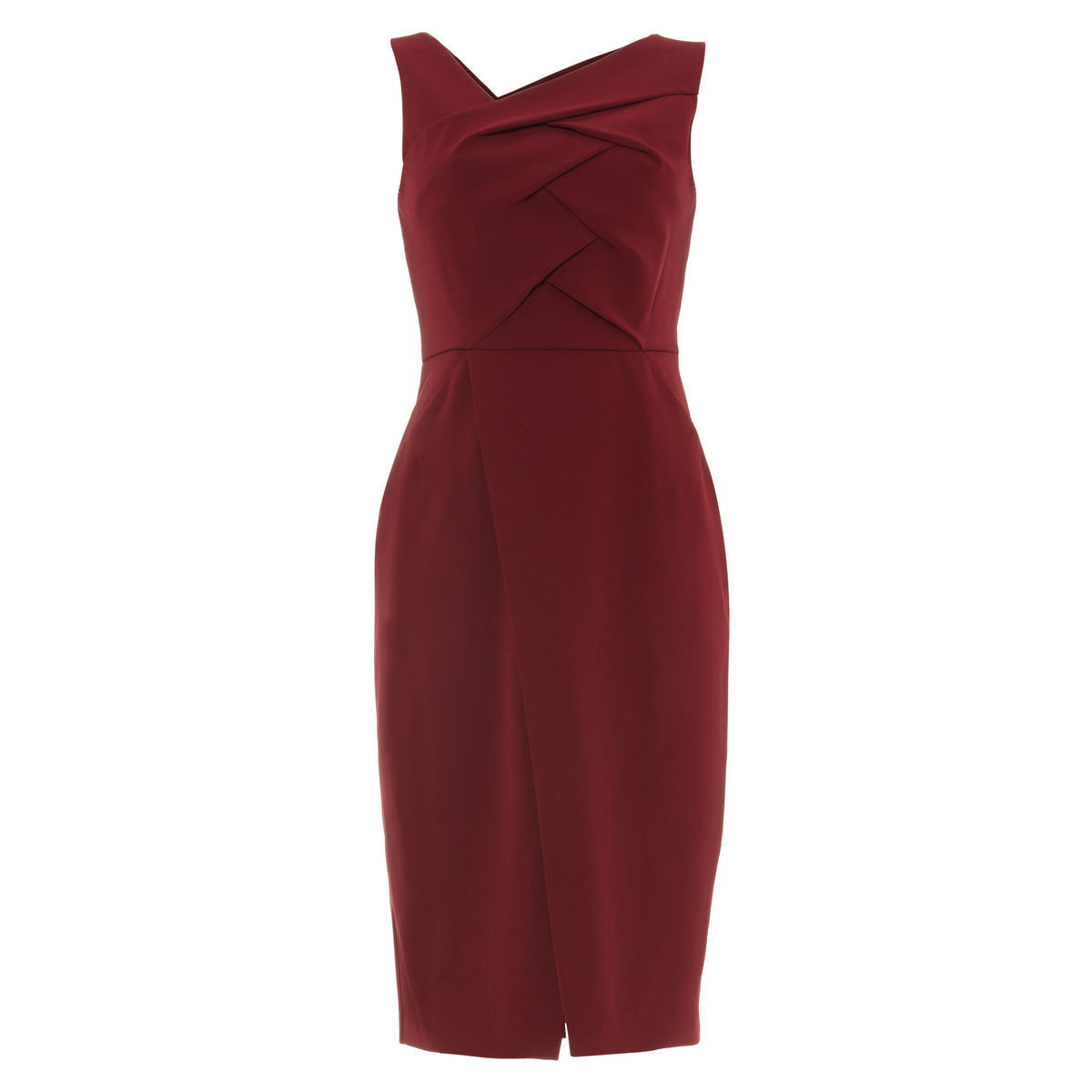 Phase Eight Damen Kleid Mara, Front mit Falten, bordeaux