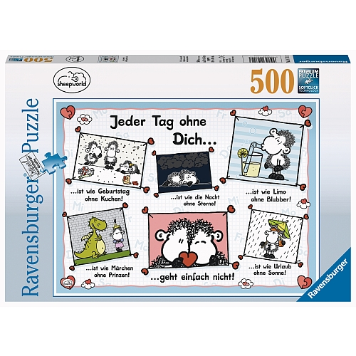 Ravensburger - Puzzle: Sheepworld, Jeder Tag ohne dich, 500 Teile