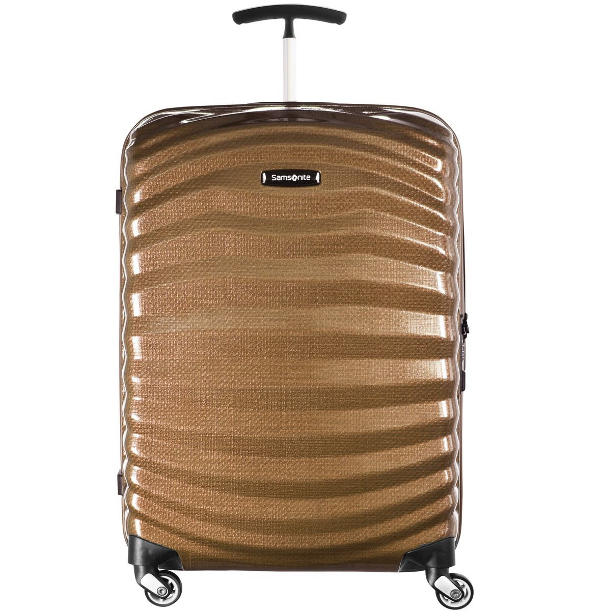 Samsonite Lite-Shock Spinner 4-Rollen Trolley 75 cm, sand