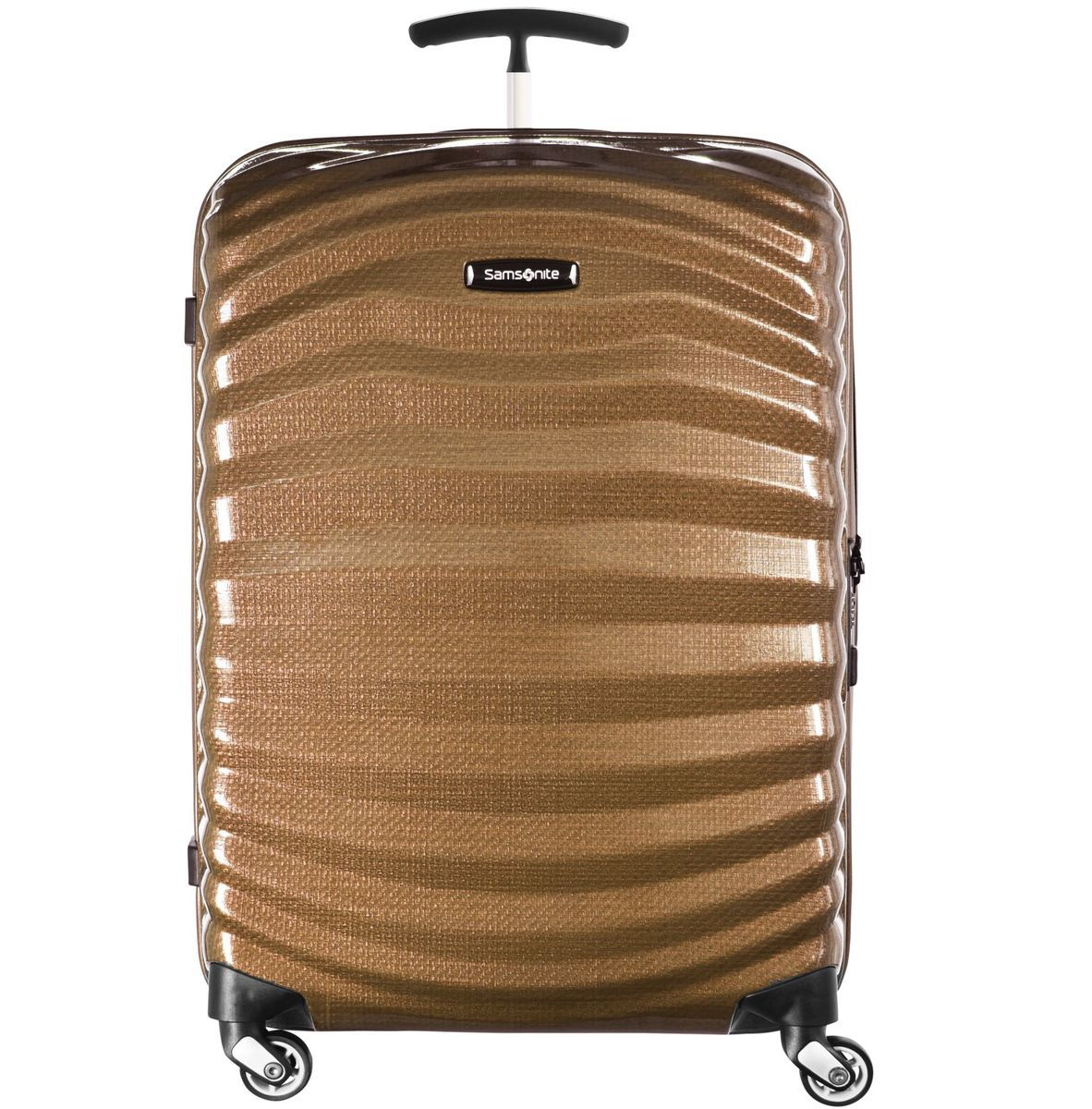 Samsonite Lite-Shock Spinner 4-Rollen Trolley 81 cm, sand