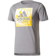 adidas Herren Climalite T-Shirt Freelift Training, grau ADIDAS