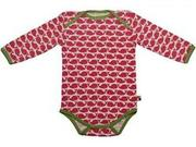Small babybody mit walen in rosenrot von loud proud 6442440519532da54362fee8347ebdc05e0112f1
