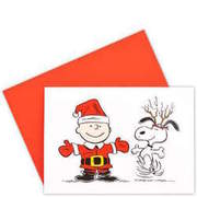 CARD Charlie & Snoopy tanzend BUTLERS