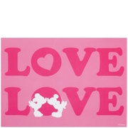 CARD Postkarte Mouse-Love rosa BUTLERS