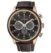 CITIZEN Herrenuhr Chronograph Lederarmband braun CA4037-01W CITIZEN