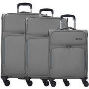 d & n Travel Line 7904 4-Rollen Trolley-Set 3tlg., grau D & N