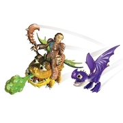Dragons - Drache + Reiter, Valka & Baby Gronckle & Scuttleclaw SPIN MASTER