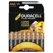 Duracell - Plus Power AAA Micro, 12+4 - Pack DURACELL