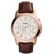 FOSSIL Herrenuhr Chronograph Grant rosegold FS4991 FOSSIL