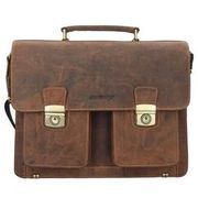 Greenburry Vintage Aktentasche Leder 40 cm, brown GREENBURRY