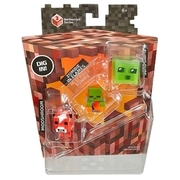 Minecraft - Minifiguren 3er Pack Set I (Moshroom, Zombie in Flame, Slime Cube) MATTEL