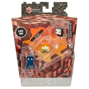 Minecraft - Minifiguren 3er Pack Set J (Black Sheep, Alex, Squid) MATTEL