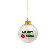 NAUGHTY BAUBLES Glaskugel Merry Kiss-Mas´´´´ BUTLERS