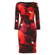 Phase Eight Damen Kleid Fleur mit Blumenprint, rot/orange PHASE EIGHT
