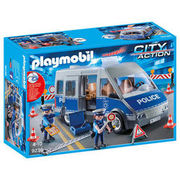 PLAYMOBIL® City Action Polizeibus mit Strassensperre 9236 PLAYMOBIL®