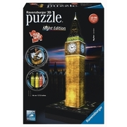 Ravensburger - 3D Puzzle Night Edition: Big Ben bei Nacht, 216 Teile RAVENSBURGER