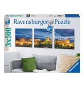 Small ravensburger puzzle alhambra im dammerlicht triptychon 3 x 500 teile 68a8926b1f4453fb762f0171a5a7c381ea9c20a0