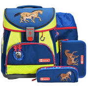 Step by Step Comfort DIN Schulranzen Set 4-tlg. 38,5 cm, Horse Family STEP BY STEP