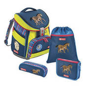 Step by Step Schulranzen-Set Comfort DIN Horse Family, 4-teilig STEP BY STEP