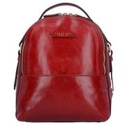 The Bridge Pearldistrict Rucksack Leder 32 cm, red currant THE BRIDGE