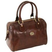 The Bridge Story Donna Barrel Bag Henkeltasche Leder 25 cm, marrone THE BRIDGE