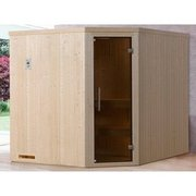 Weka Element-Ecksauna 508 K Set Gr. 3 mit Glastür WEKA