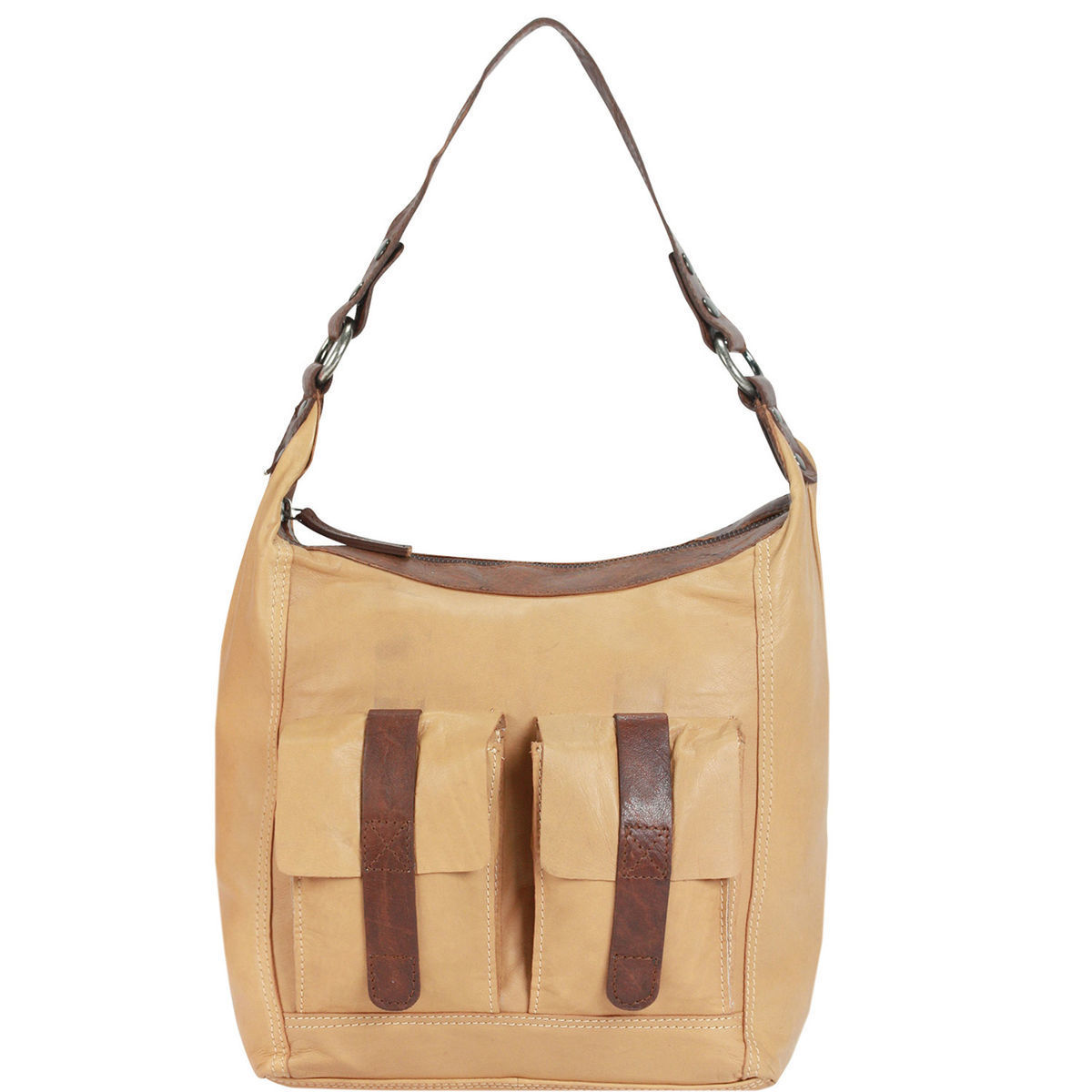 Spikes & Sparrow Savannah Bronco Handtasche Shopper Leder 32 cm, camel