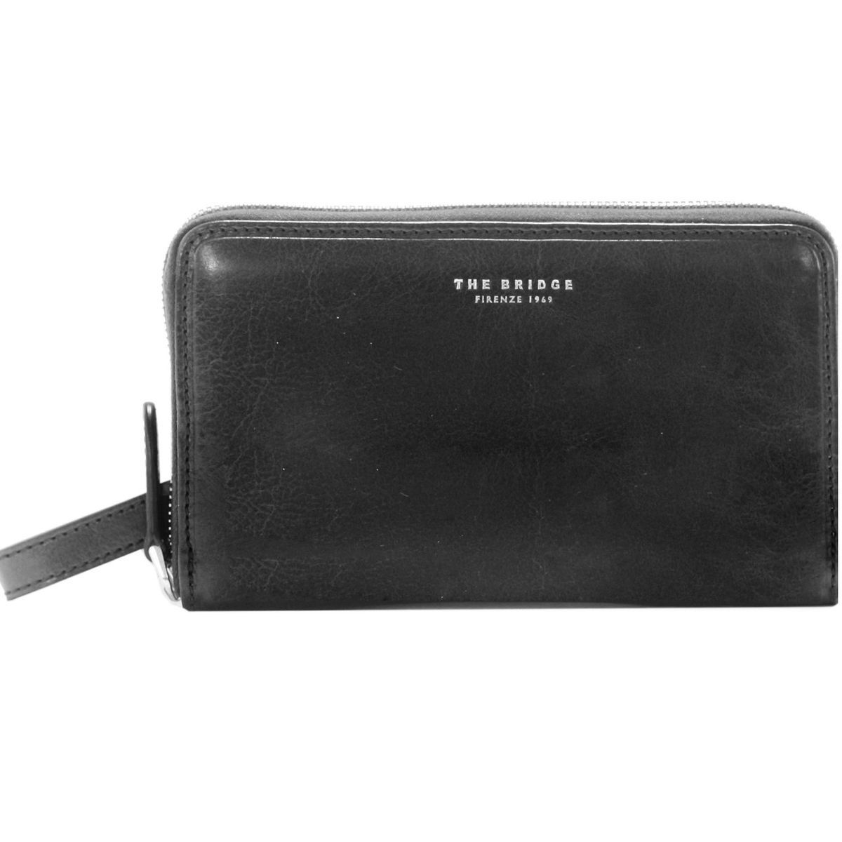 The Bridge Jade Clutch Tasche Leder 41 cm, nero