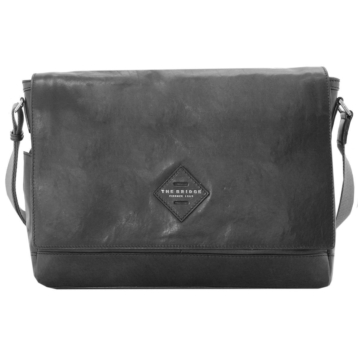 The Bridge Patch Luxe Umhängetasche 36 cm, black