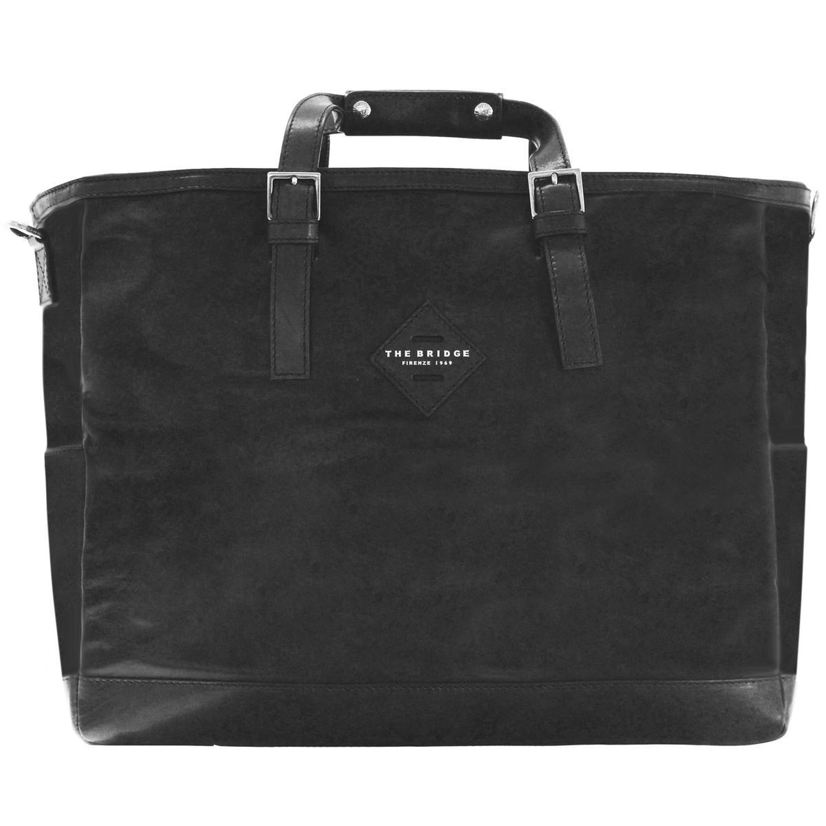 The Bridge Patch Luxe Weekender Tasche 45 cm, black