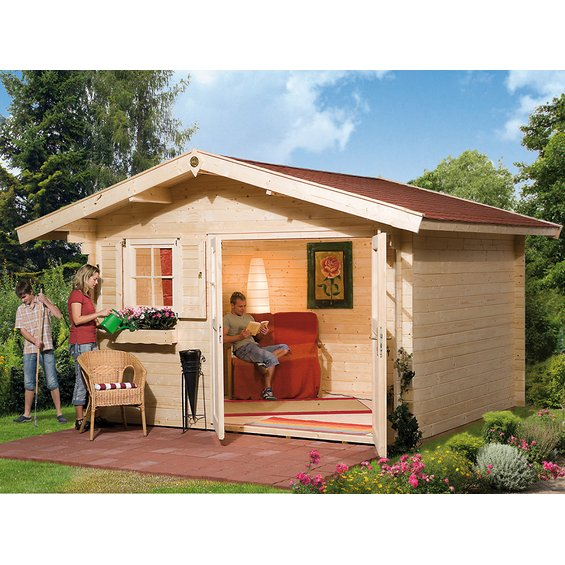 weka holz gartenhaus sienna e 340 cm x 300 cm g nstig in deiner stadt oder online kaufen guloka. Black Bedroom Furniture Sets. Home Design Ideas